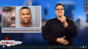 Anchor Jethro Wooddall - News for the deaf community powered by CNN in American Sign Language (ASL).