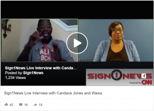 Live interview with Candace Jone and Wawa