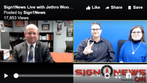 Sign1News Anchor Jethro Wooddall with NAD