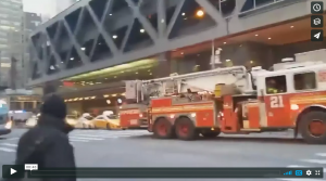 NYC PORT AUTHORITY EXPLOSION FIRE POLICE AT SCENE