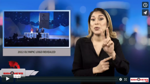 Sign 1 News Anchor Crystal Cousineau - 2022 Olympic logo revealed (ASL - Sign1News - 12.16.17)