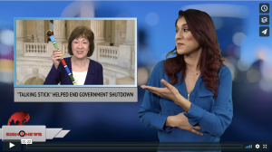 "Sign 1 News with Crystal Cousineau - ""Talking stick"" helped end government shutdown (ASL 1.23.18)"