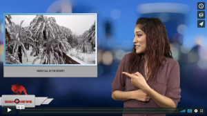 Sign 1 News with Crystal Cousineau - Snow fall in the desert! (1.30.18)