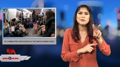 """Sign 1 News with Crystal Cousineau - NY commuters participate in """"No Pants Subway Ride"""" (1.9.18)"""