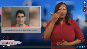 Sign 1 News with Candace Jones - Broadway actor busted in prostitution ring (ASL - 2.14.18)