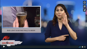 Sign 1 News with Crystal Cousineau - Bud Light is buying Philly a beer! (2.6.18)
