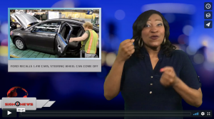Sign 1 News with Candace Jones - Ford recalls 1.4M cars, steering wheel can come off (ASL - 3.14.18)