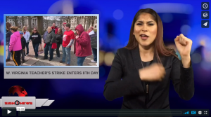 Sign1News with Candace Jones - W. Virginia teacher's strike enters 8th day (3.5.18)