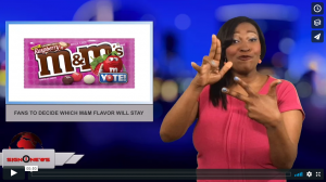 Sign1News with Candace Jones - Fans to decide which M&M flavor will stay (3.7.18)