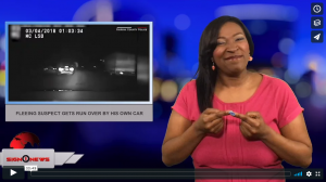 Sign1News with Candace Jones - Fleeing suspect gets run over by his own car (3.7.18)