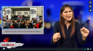 "Sign 1 News with Crystal Cousineau - ""March for our lives"" rallies around the world (3.24.18)"
