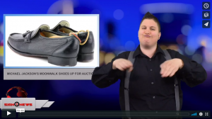 Sign 1 News with Jethro Wooddall - Michael Jackson's moonwalk shoes up for auction (4.21.18)