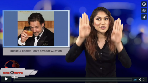 Sign 1 News with Crystal Cousineau - Russell Crowe hosts divorce auction (4.7.18)