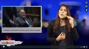 Sign 1 News with Crystal Cousineau - Former President Bush alert and talking (4.24.18)