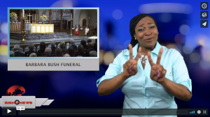 Sign 1 News with Candace Jones - Barbara Bush funeral (4.21.19)