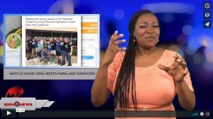 Sign 1 News with Candace Jones - Waffle House hero meets Parkland survivors