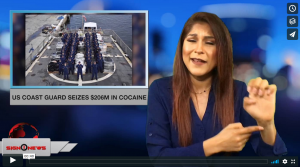 Sign 1 News with Crystal Cousineau - US Coast Guard seizes $206M in cocaine (ASL - 6.17.18)