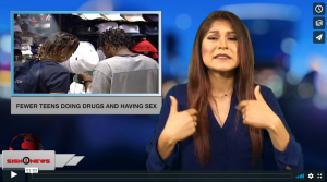 Sign 1 News with Crystal Cousineau - Fewer teens doing drugs and having sex (ASL - 6.17.18)