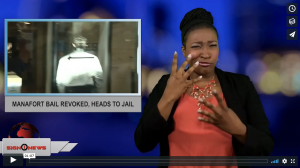 Sign 1 News with Candace Jones - Manafort bail revoked, heads to jail (ASL - 6.15.18)