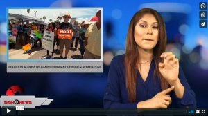 Sign 1 News with Crystal Cousineau - Protests across US against migrant children separations? (ASL - 6.17.18)