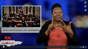 Sign 1 News with Candace Jones - Republicans release DACA, Wall compromise bill (ASL - 6.15.18)