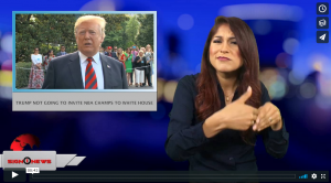 Sign 1 News with Crystal Cousineau - Trump not going to invite NBA champs to White House (6.8.18)