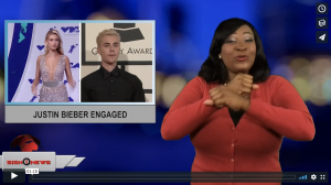 Sign 1 News with Candace Jones - Justin Bieber engaged (ASL - 7.8.18)
