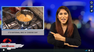 Sign 1 News with Crystal Cousineau - It's National Mac N' Cheese Day (ASL - 7.14.18)