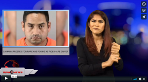 Sign 1 News with Crystal Cousineau - CA man arrested for rape and posing as rideshare driver (ASL - 7.14.18)