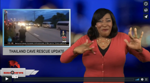 Sign 1 News with Candace Jones - Thailand cave rescue update (ASL - 7.8.18)
