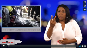 Sign 1 News with Candace Jones - Video of the Navy Seal rescue inside the Thailand cave (ASL - 7.11.18)