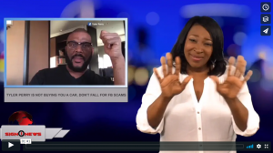 Sign 1 News with Candace Jones - Tyler Perry is not buying you a car, don't fall for FB scams (ASL - 7.11.18)