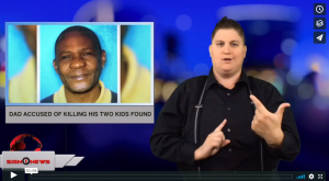 Sign 1 News with Jethro Wooddall - Dad accused of killing his two kids found - (ASL - 8.5.18)