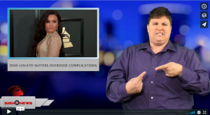Sign 1 News with Jethro Wooddall - Demi Lovato suffers overdose complications (ASL - 7.31.18)