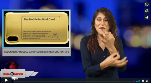 "McDonald's ""McGold Card"" contest: Free food for life (ASL - 8.11.18)"