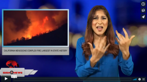 Sign 1 News with Crystal Cousineau - California Mendocino complex fire largest in state history (ASL - 8.7.18)