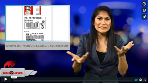 Sign 1 News with Crystal Cousineau - Ground beef products recalled, e-coli breakout (ASL - 9.20.18)