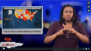 Sign 1 News with Candace Jones - Polio-like illness now in 22 states (ASL - 10.17.18)