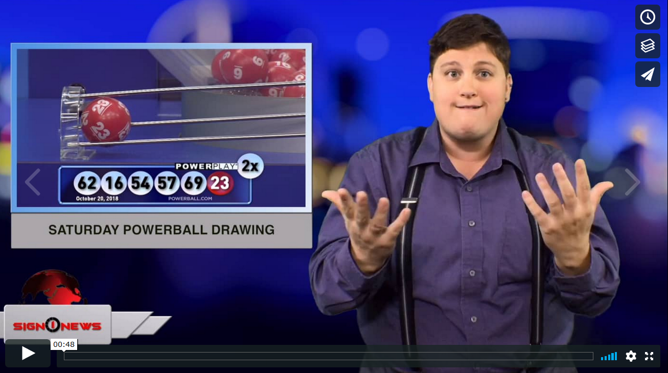 Saturday Powerball Drawing 10 21 18 News For The Deaf Community