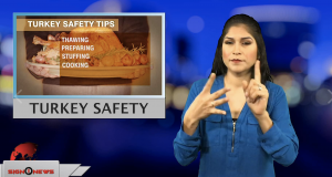 Sign1News anchor Crystal Cousineau - Turkey safety (ASL - 11.22.18)