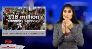 Sign1News anchor Crystal Cousineau - Black Friday kicks off holiday shopping season (ASL - 11.23.18)