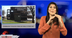 Starbucks to block porn on public store WiFi (Sign1News anchor Crystal Cousineau - ASL - 11.29.18)