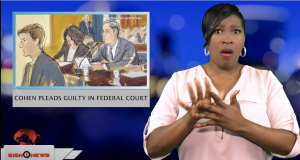 Sign1News anchor Candace Jones - Cohen pleads guilty in federal court (ASL - 11.30.18)