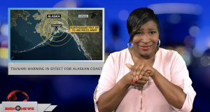 Sign1News anchor Candace Jones - Tsunami warning in effect for Alaskan coast (ASL - 11.30.18)
