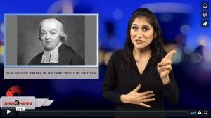 """Sign 1 News with Crystal Cousineau - Deaf history: """"Father of the Deaf"""" would be 306 today (ASL - 11.24.18)"""