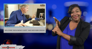 Sign1News anchor Candace Jones - Welcome Sign1News guest anchor Bob Green! (ASL - 12.4.18)