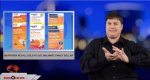 Sign1News anchor Jethro Wooddall - Ibuprofen recall sold at CVS, Walmart, Family Dollar (ASL - 12.6.18)