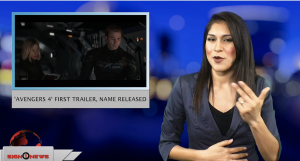 Sign1News anchor Crystal Cousineau - 'Avengers 4' first trailer, name released (ASL - 12.7.18)