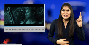 Sign1News anchor Crystal Cousineau - Avengers: Endgame trailer breaks 24-hour views record (ASL - 12.10.18)