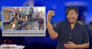 Sign1News anchor Candace Jones - Doctors seeing more patients with 'selfie wrist' (ASL - 12.21.18)